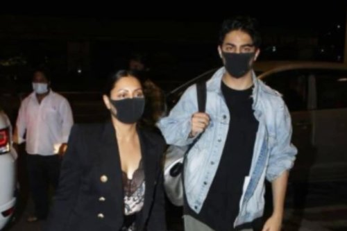 Aryan Khan and Gauri Khan Get Clicked at Airport As They Head to New York, See Pics