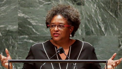 Barbados PM Mia Mottley Quotes Bob Marley at UNGA, Internet Gives 'Standing' Ovation