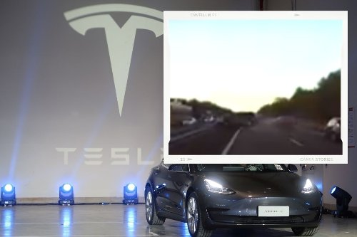 Tesla Car Predicts Crash With Accurately and Brakes Vehicle, Viral Video Leaves Twitter Impressed