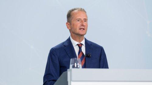 """VW-Chef Herbert Diess wurmt eine Sache gewaltig – """"Das ist zu wenig"""""""