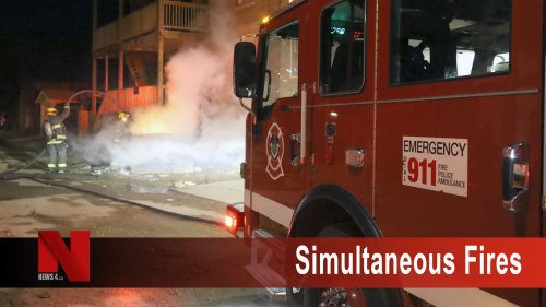 Firefighters battle three fires simultaneously less than a block apart