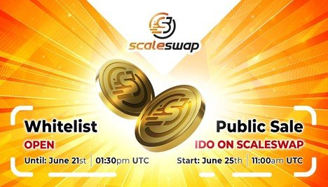 Scaleswap Announces Whitelist Opening and IDO Launch Date | NewsBTC
