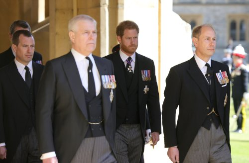 Royal family show glimpses of affection at Duke of Edinburgh's funeral