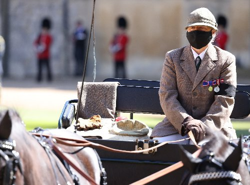 Possibly the day's most poignant image: gloves, cap and sugar lumps on seat of Duke's driving carriage