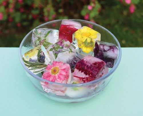 Make floral ice cubes and add zing to your summer drinks