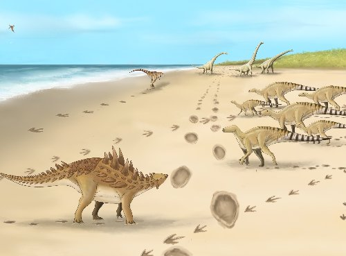 Footprints of last dinosaurs on UK soil found close to white cliffs of Dover