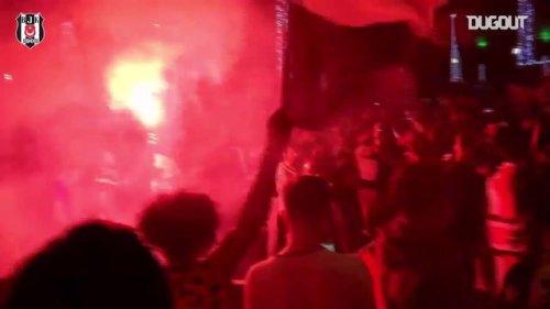 Beşiktaş fans celebrating Süper Lig title after thirteen years