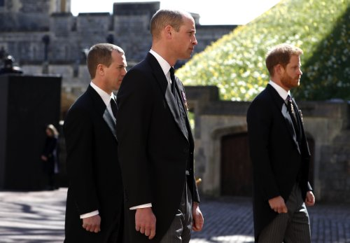 Brothers reunited? William and Harry appear to put differences aside as they chat after Prince Philip's funeral