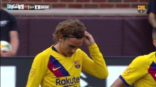 Griezmann scores first goal for Barcelona
