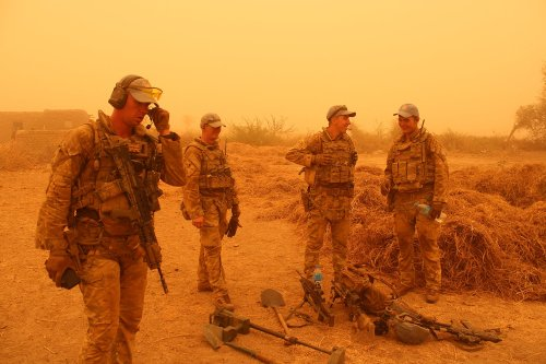 UK troops battle sandstorm to seize weapons cache hidden by terrorists in Mali