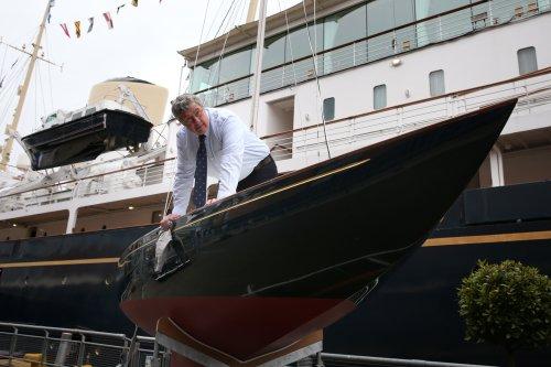 Restored royal yacht once owned by Duke of Edinburgh joins historic fleet