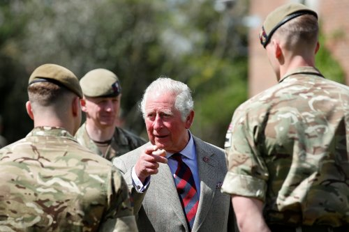 Charles tells Guardsmen who took part in Philip's funeral they 'did him proud'