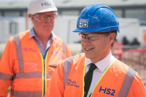 Shapps launches construction of HS2 station