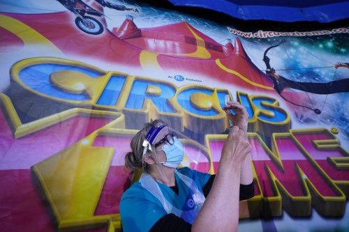 Covid jabs delivered inside circus marquee and at vaccine festival