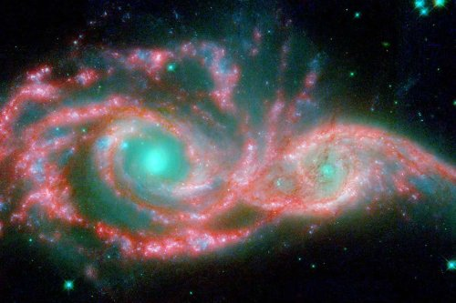 Merging galaxies throw shade on alterative dark matter theory