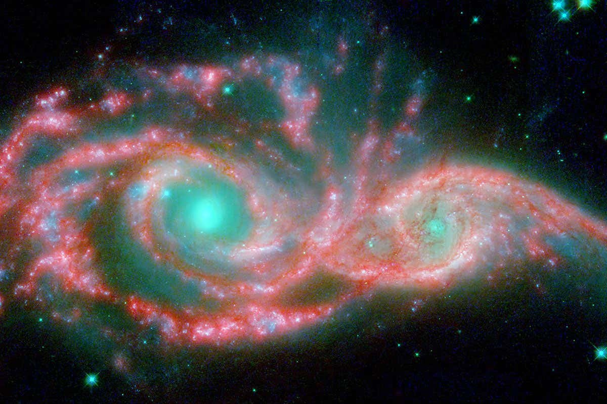 Merging galaxies throw shade on alternative dark matter theory
