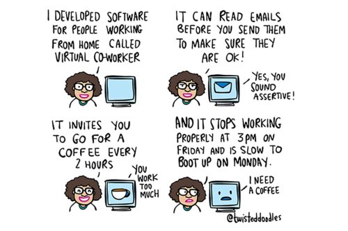 Twisteddoodles' virtual co-worker helps you work from home