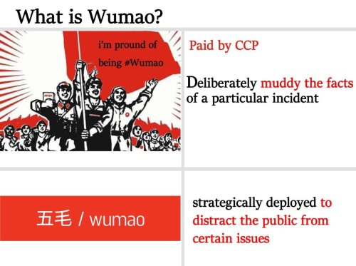 Wu Mao or 50 Cents Chinese Troll Army manipulates Social Media