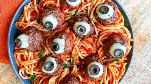 Eek! Make spaghetti and 'eyeballs' for dinner