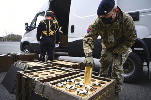 Gun Salutes Mark Death of UK's Prince Philip