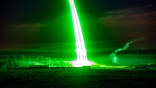 'An ion cannon?' Stunning photos of Fort Bragg live-fire exercise ignite social media