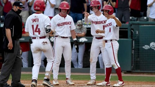 Arkansas blasts NC State in opening game of Super Regional