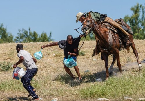 Harrowing Photos Of Border Patrol With Whips On Horseback Hunting Haitian Migrants Evoke Images Of Slavery