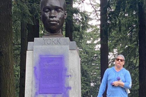 Video Shows White Woman Defacing Monument To Only Black Member Of Lewis And Clark Expedition: 'F-ck You All!'