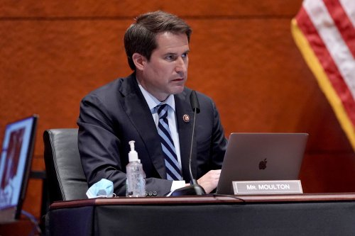 """""""Traitors"""": Rep. Moulton calls for Greene, Gaetz and Gosar to be ousted over FBI-riot theory"""