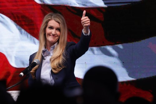 """Kelly Loeffler's """"Greater Georgia"""" launch party met with protests against new election law"""