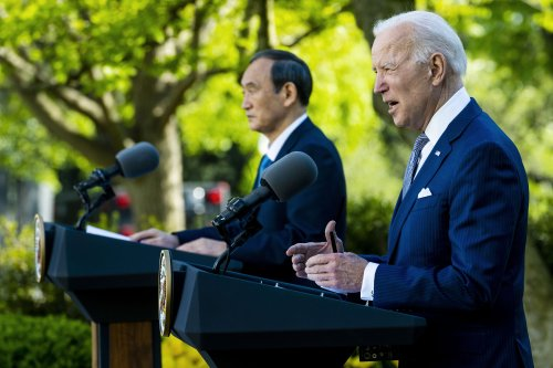 "Biden, Suga hold ""serious talks"" on China after Beijing warns Japan to stand aside"