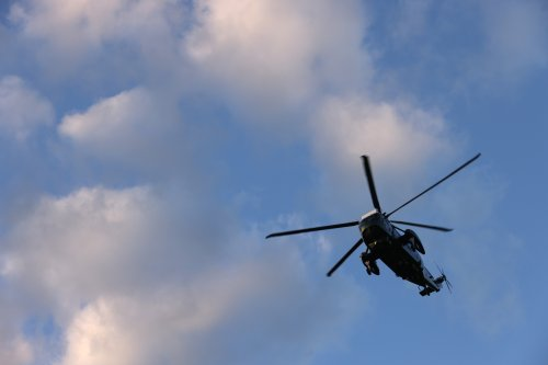 """Man charged with pointing """"military-grade laser"""" into police helicopter in flight"""