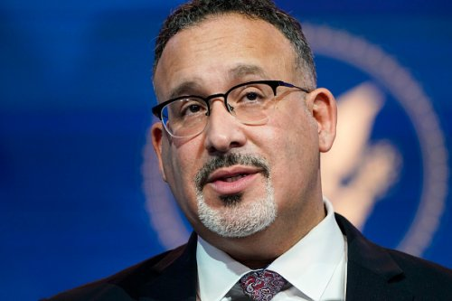 """Education Secretary Miguel Cardona says school have to be """"redesigned"""" post-pandemic"""