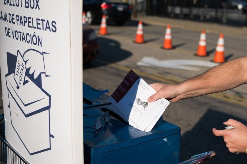 Mail-in Ballot printer in Ohio took down its Trump 2020 Flag as delays increase
