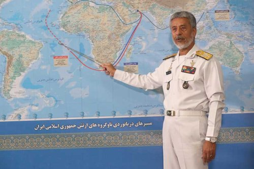 """U.S. military """"keeping an eye"""" on Iran Navy sent to Atlantic to """"protect interests"""""""