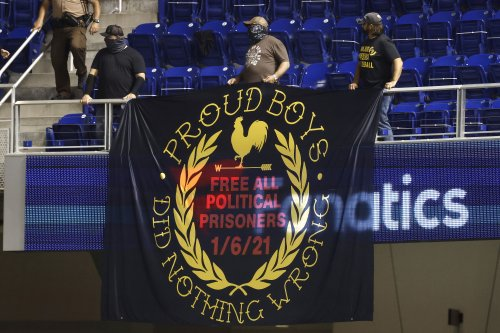 Fans Ejected After Massive Proud Boys, 'Trump Won,' Signs Unfurled at Miami Marlins Baseball Game