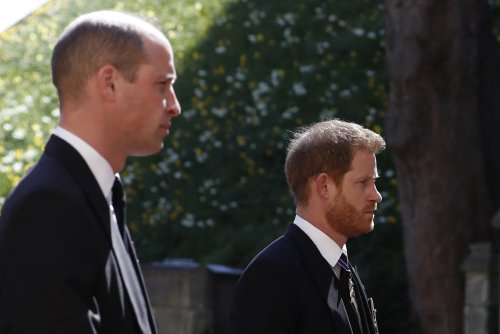 Prince Harry and Prince William speak at Prince Philip's funeral amid rift