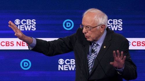 Bernie Sanders Runs Out the Clock at a Chaotic Democratic Debate