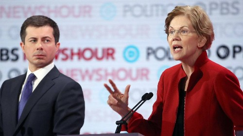 Why Elizabeth Warren and Amy Klobuchar Went After Pete Buttigieg at the Democratic Debate