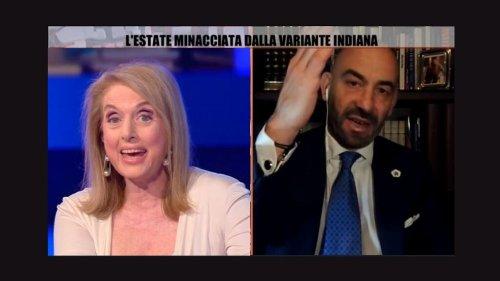 """Il """"vaffa"""" di Bassetti alla tifosa del lockdown"""