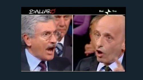 """Quando Sallusti demolì il """"moralista"""" D'Alema"""