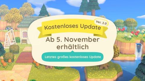 Das letzte Animal Crossing-Update kommt am 5. November