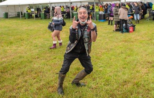 Punters arrive to rainy Download Pilot as UK camping festivals return