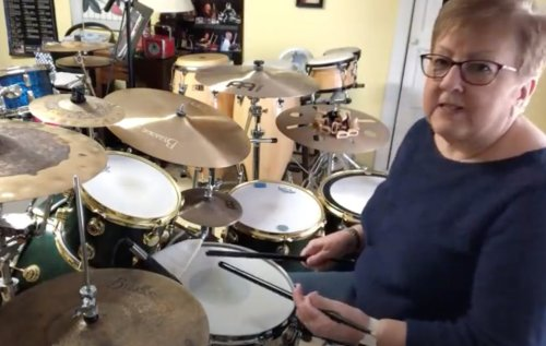 Watch drumming grandma perform covers of songs by Slipknot, Paramore and Disturbed