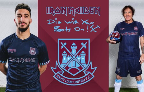 Iron Maiden have teamed up with West Ham for new away shirt