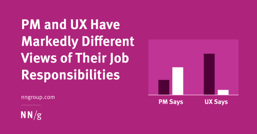 PM and UX Have Markedly Different Views of Their Job Responsibilities