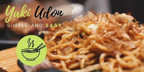 Easy and Simple Japanese Yaki Udon recipe - Nomadic Boys