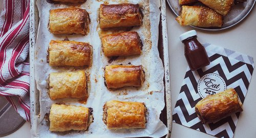INCREDIBLE Nduja, Olive & Tomato Sausage Rolls!