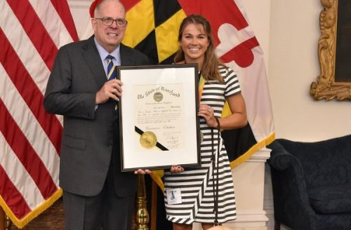 Governor Hogan honors U.S. Paralympian Becca Meyers, enacts order naming July as Disability Culture and Achievements Month in Maryland [VIDEO]