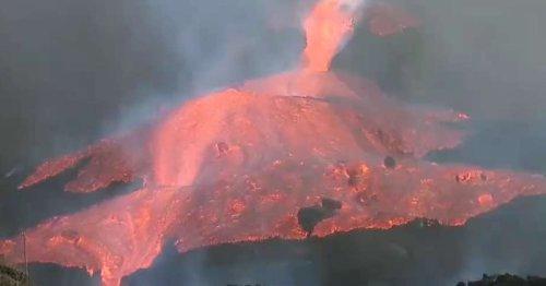 Aux Canaries, l'éruption ne faiblit pas et les coulées de lave engloutissent tout sur leur passage